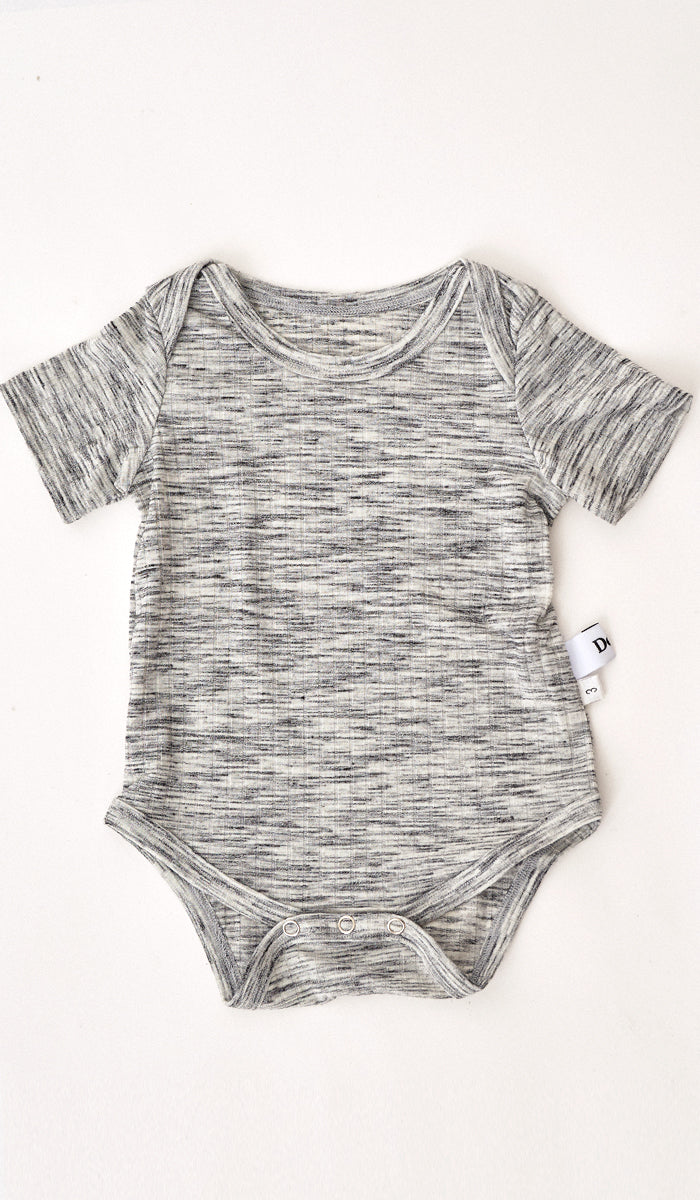 ADEN RIBBED ROMPER GREY