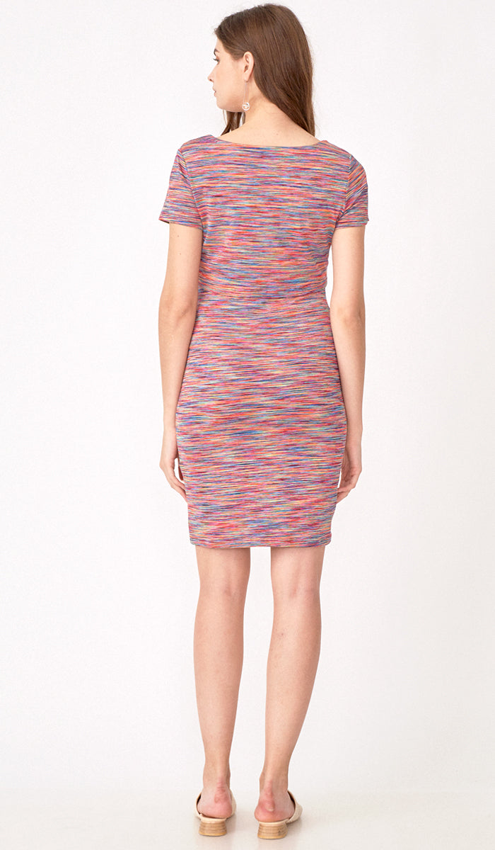 ARALYN BODYCON DRESS RAINBOW