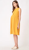 CARL BUTTONDOWN NURSING DRESS MARIGOLD