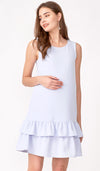 GRACE TIERED DRESS SKY BLUE