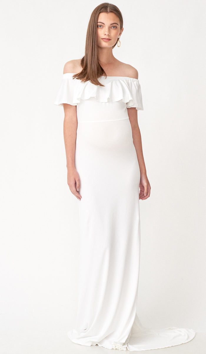 ISABEL MULTI WEAR MATERNITY MAXI DRESS WHITE