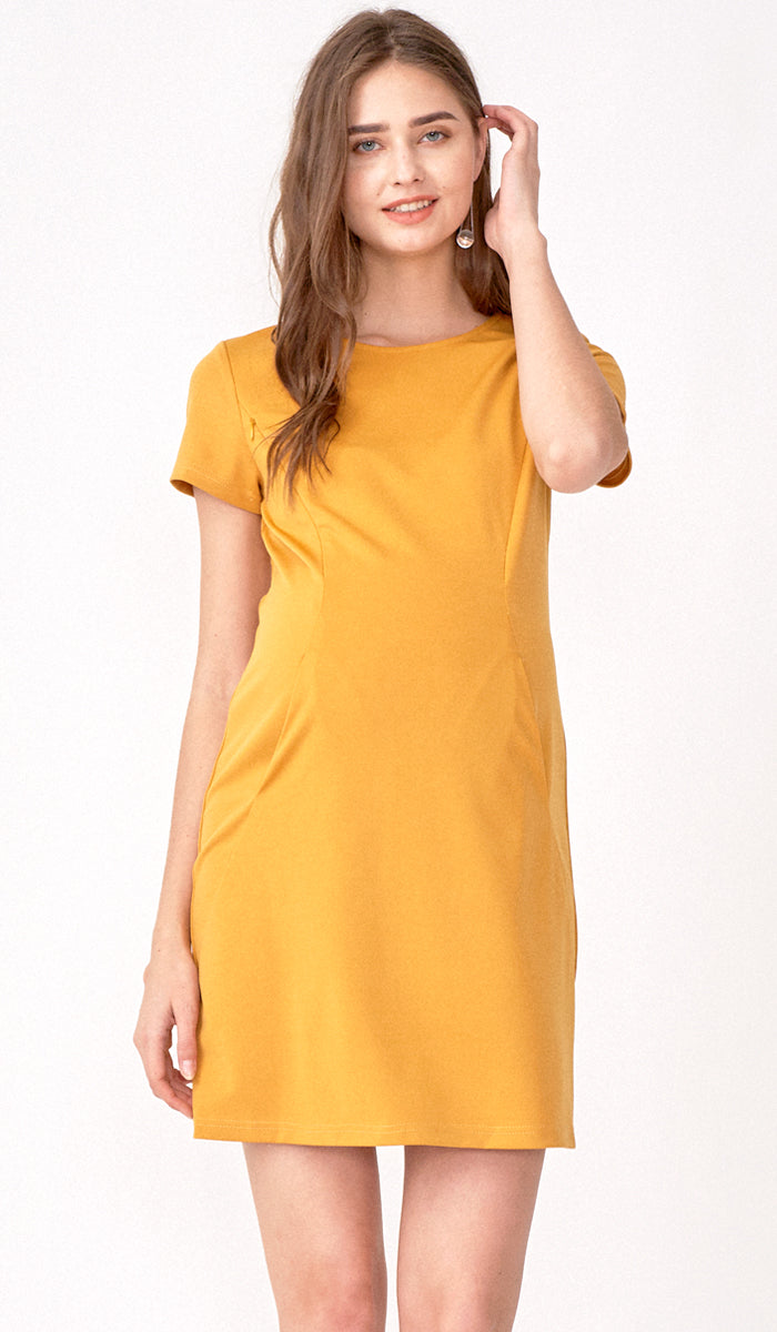 RAINE SHIFT DRESS YELLOW