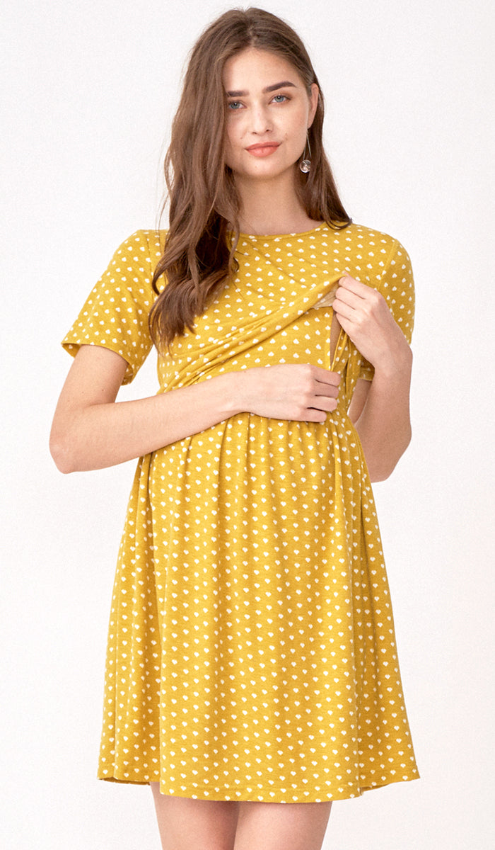SPADES AND HEARTS DRESS YELLOW