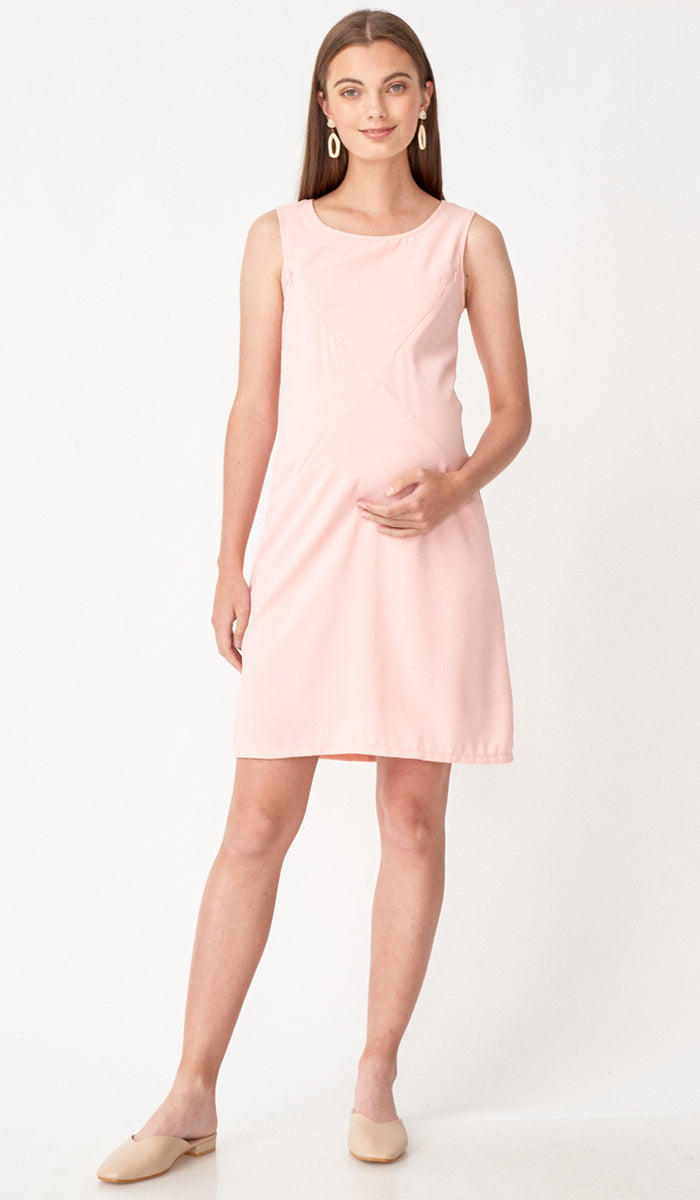 CARLA ASYMMETRICAL ZIP DRESS PINK