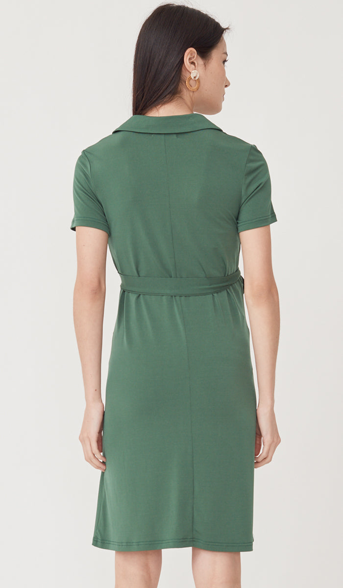 SALE - CARRIE BUTTONDOWN NURSING DRESS BASIL