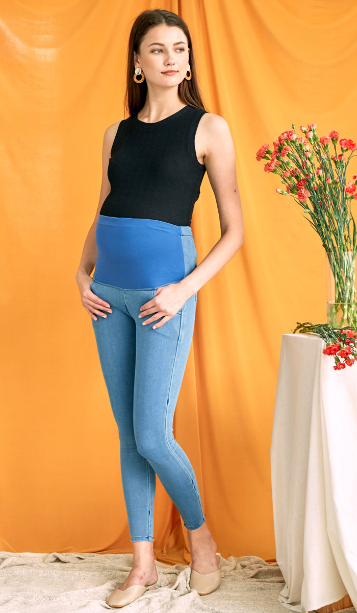 CHARLIE MATERNITY JEGGINGS BLUE