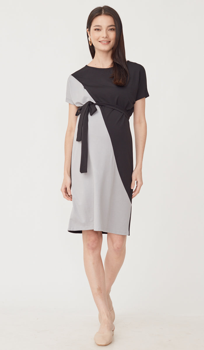 SALE - DUXTON COLORBLOCK NURSING DRESS