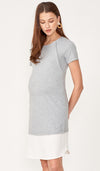 GALE COLOURBLOCK SHIFT DRESS GREY