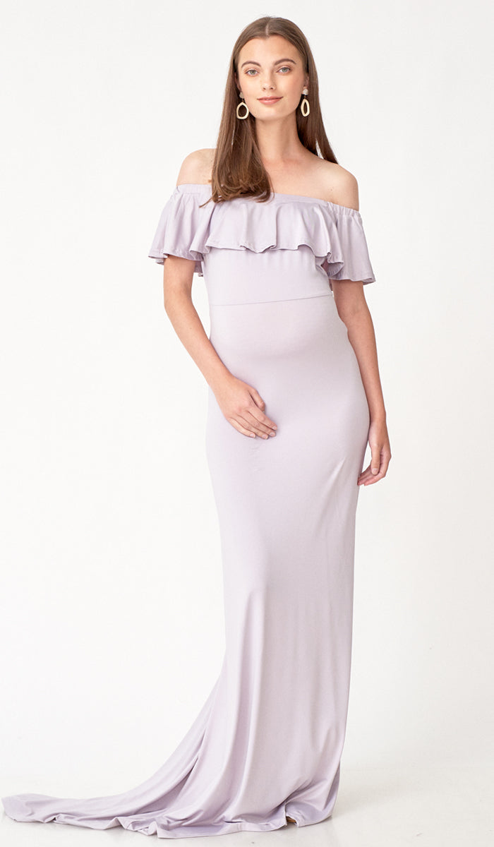 fee35845c3a56 ISABEL MULTI WEAR MATERNITY MAXI DRESS LILAC GREY