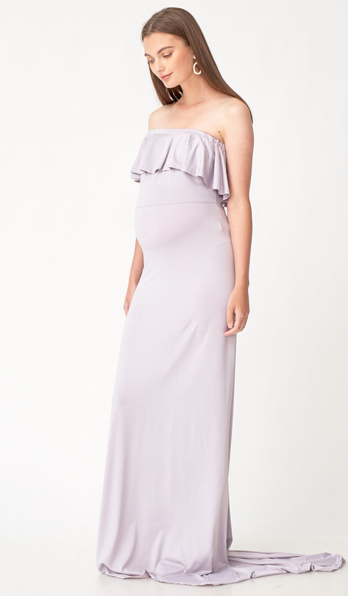 SALE - ISABEL MULTI WEAR MATERNITY MAXI DRESS LILAC GREY