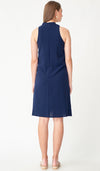 KELLER CHEONGSAM NURSING DRESS NAVY