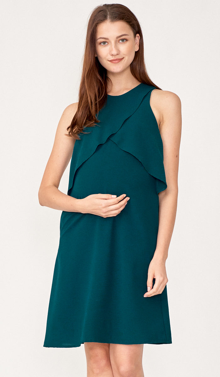 LIV PETAL DRESS GREEN