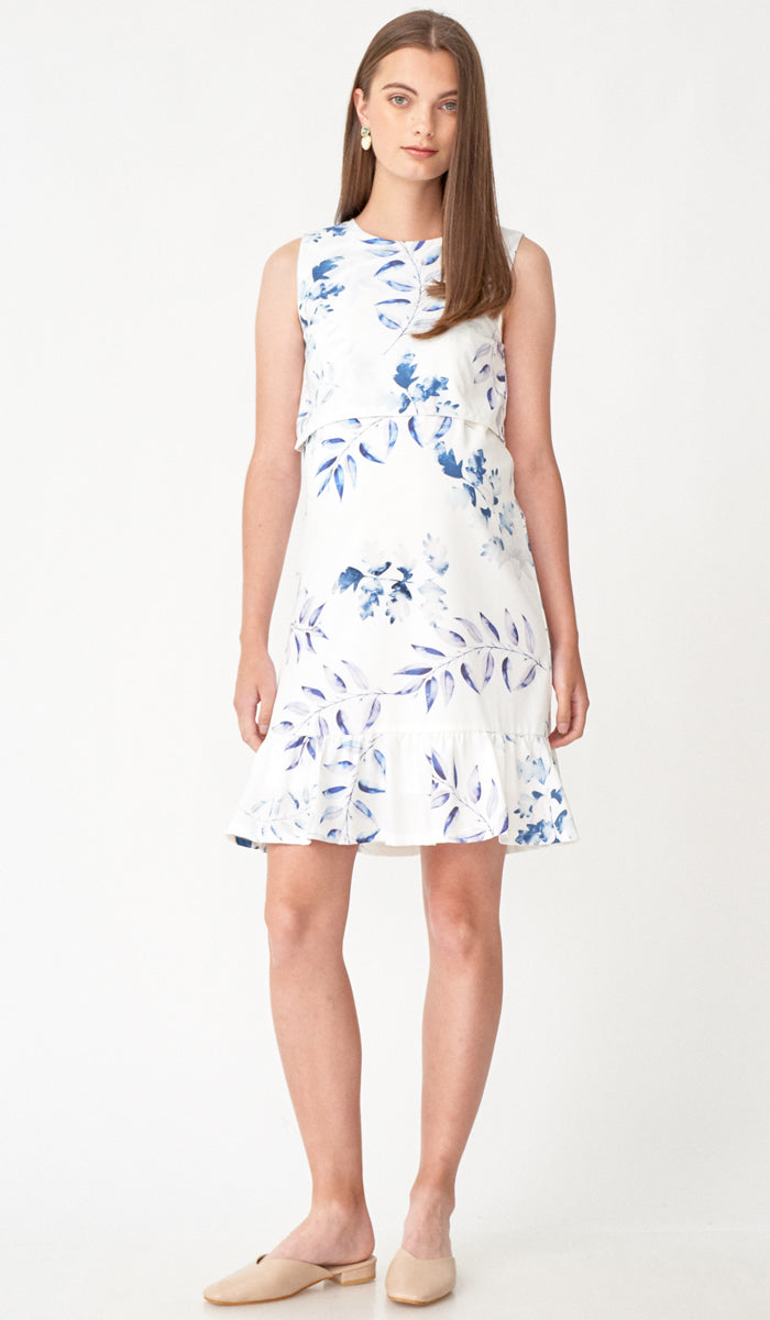 LUANNE FLORAL NURSING DRESS