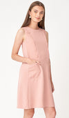 LUCIA POCKET NURSING DRESS ROSE