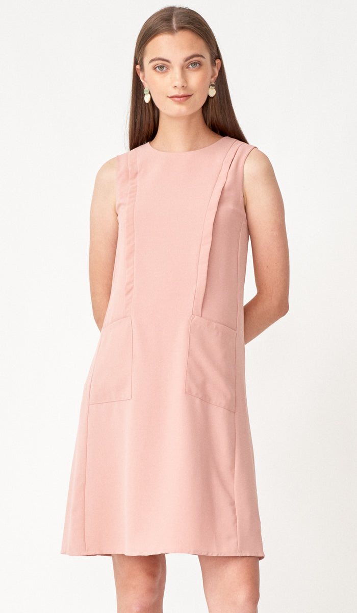 SALE - LUCIA POCKET NURSING DRESS ROSE
