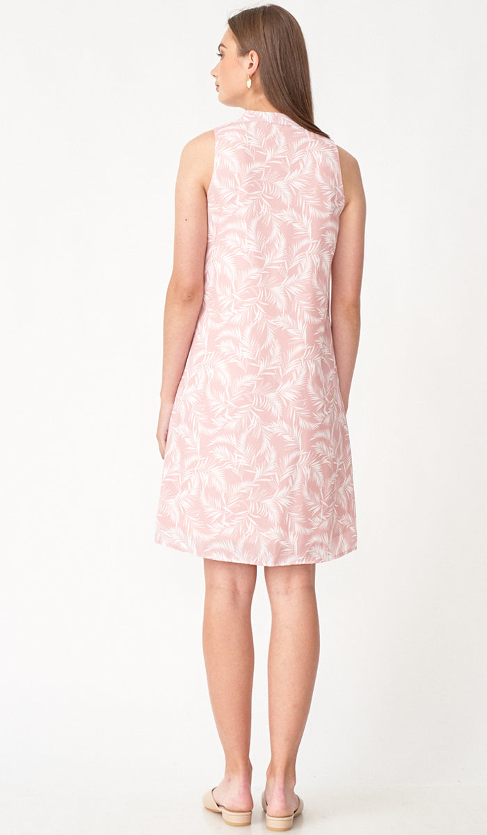 PALMER BUTTONDOWN DRESS w SASH PINK