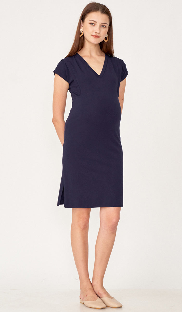 RAVEN SHIFT DRESS NAVY
