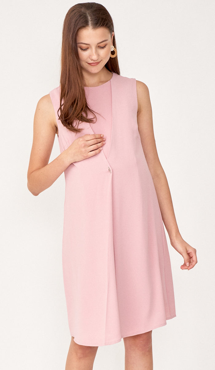 TARA NURSING VEST DRESS PINK