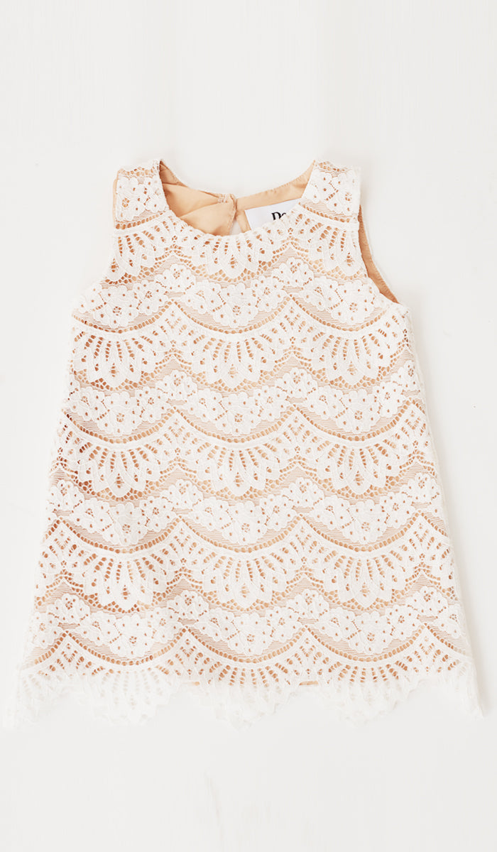 ADRIE LACE KIDS DRESS WHITE