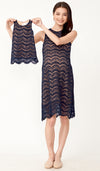 ADRIE LACE KIDS DRESS NAVY
