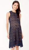 ADRIENNE LACE NURSING DRESS NAVY