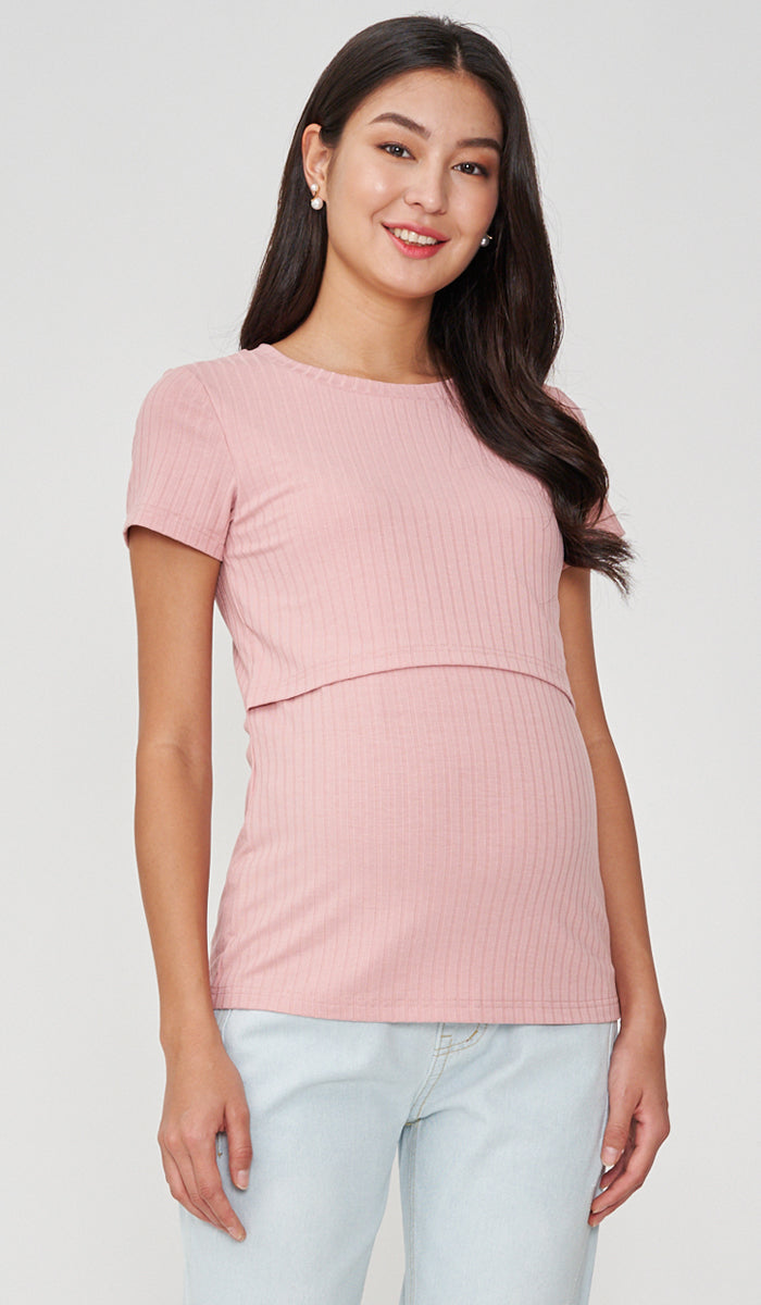 DARA BASIC NURSING TOP PINK