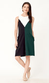SALE - DONNA COLOURBLOCK NURSING DRESS