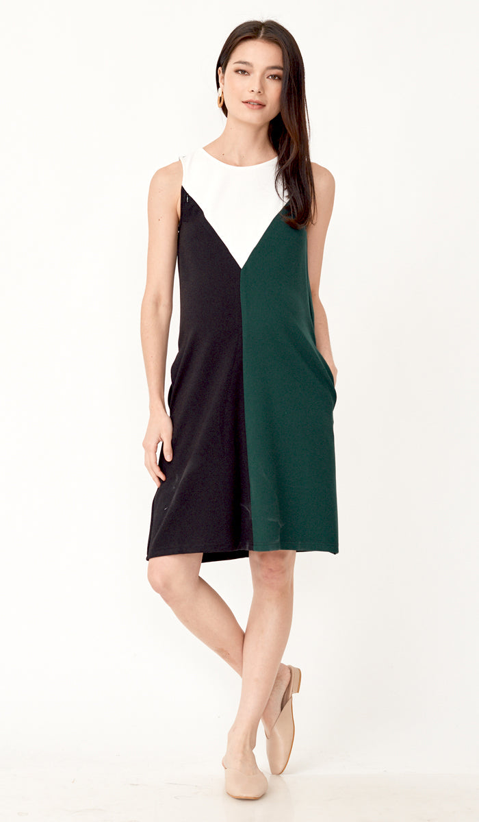 DONNA COLOURBLOCK NURSING DRESS