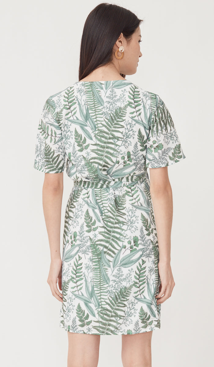 HOLLY WRAP DRESS FERN