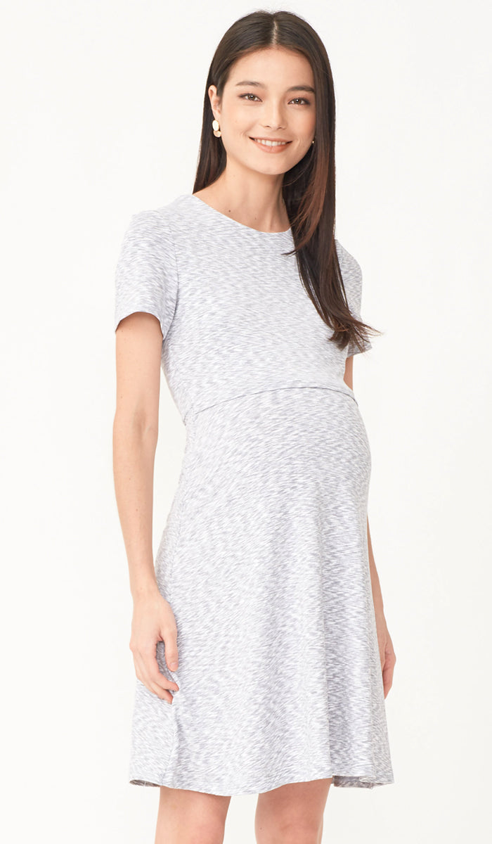 JESS A-LINE NURSING DRESS GREY