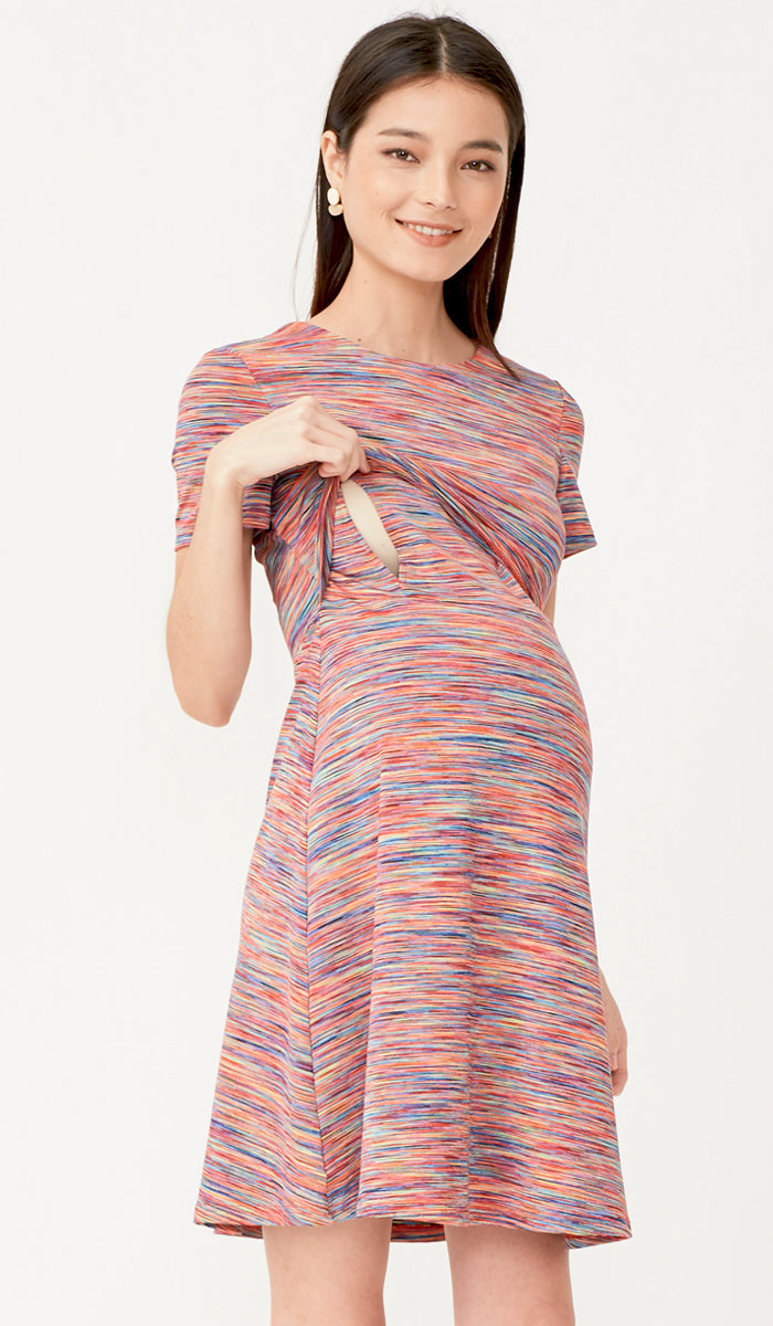 JESS A-LINE NURSING DRESS RAINBOW