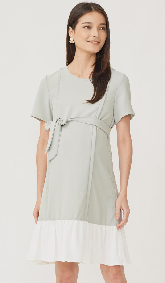 SALE - LAURIE COLORBLOCK NURSING DRESS MINT