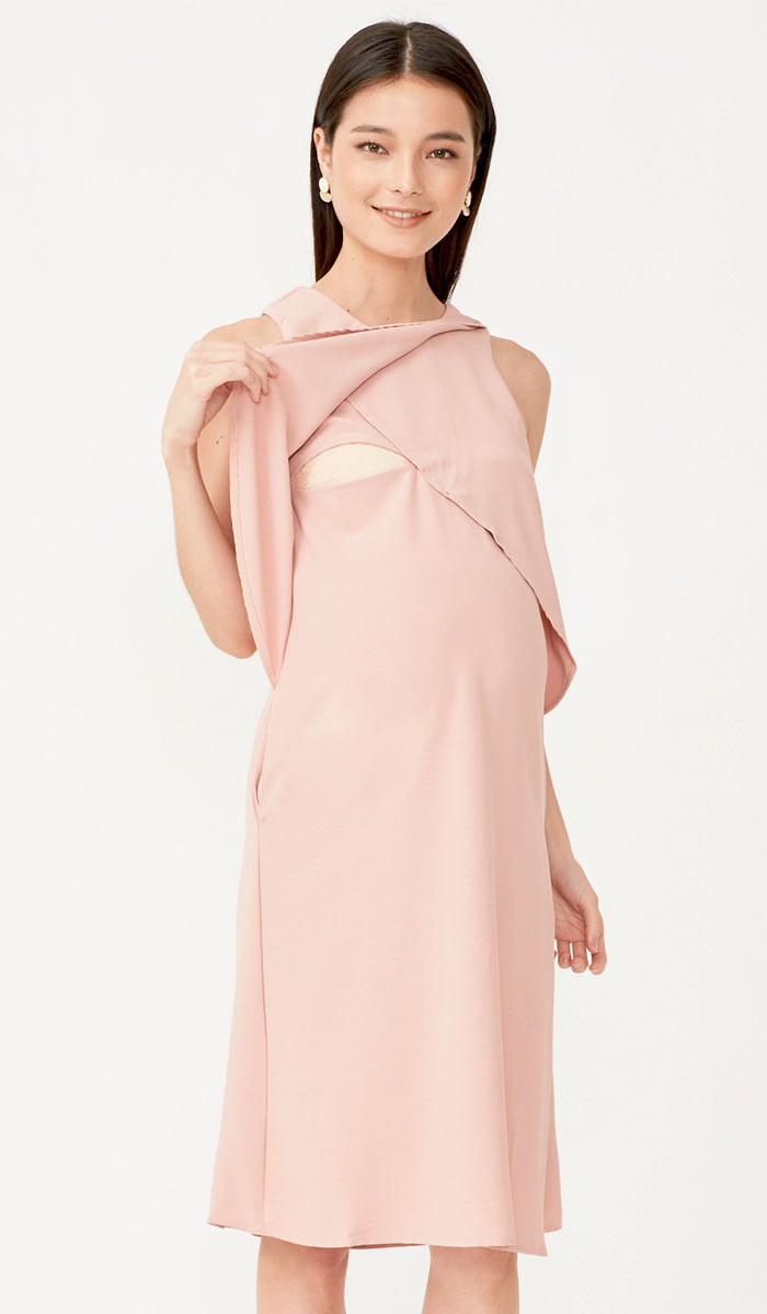SALE - LIV PETAL DRESS PINK