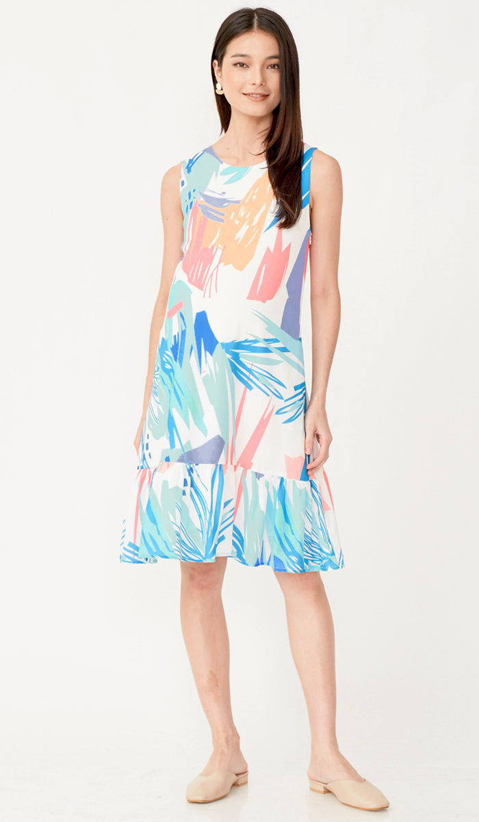 VERA ABSTRACT NURSING DRESS