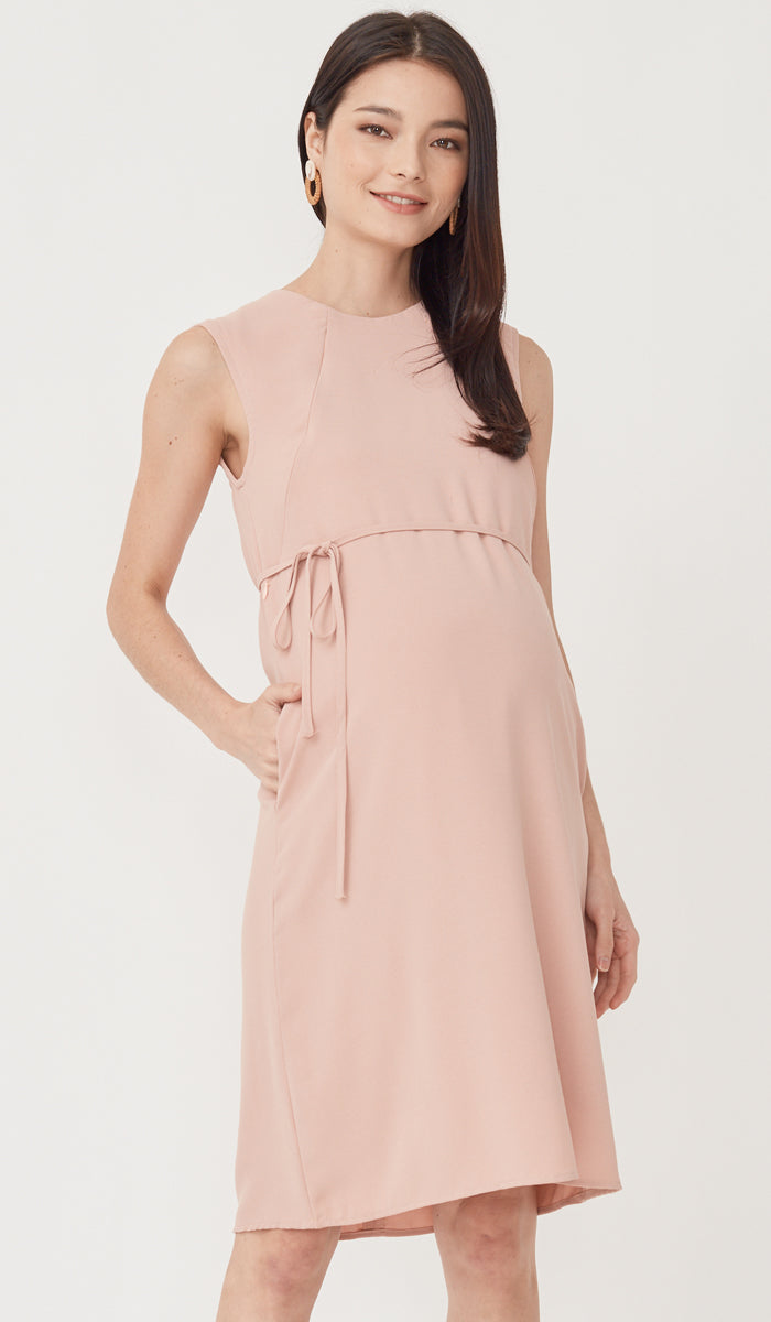 SALE - MIRA NURSING DRESS PINK
