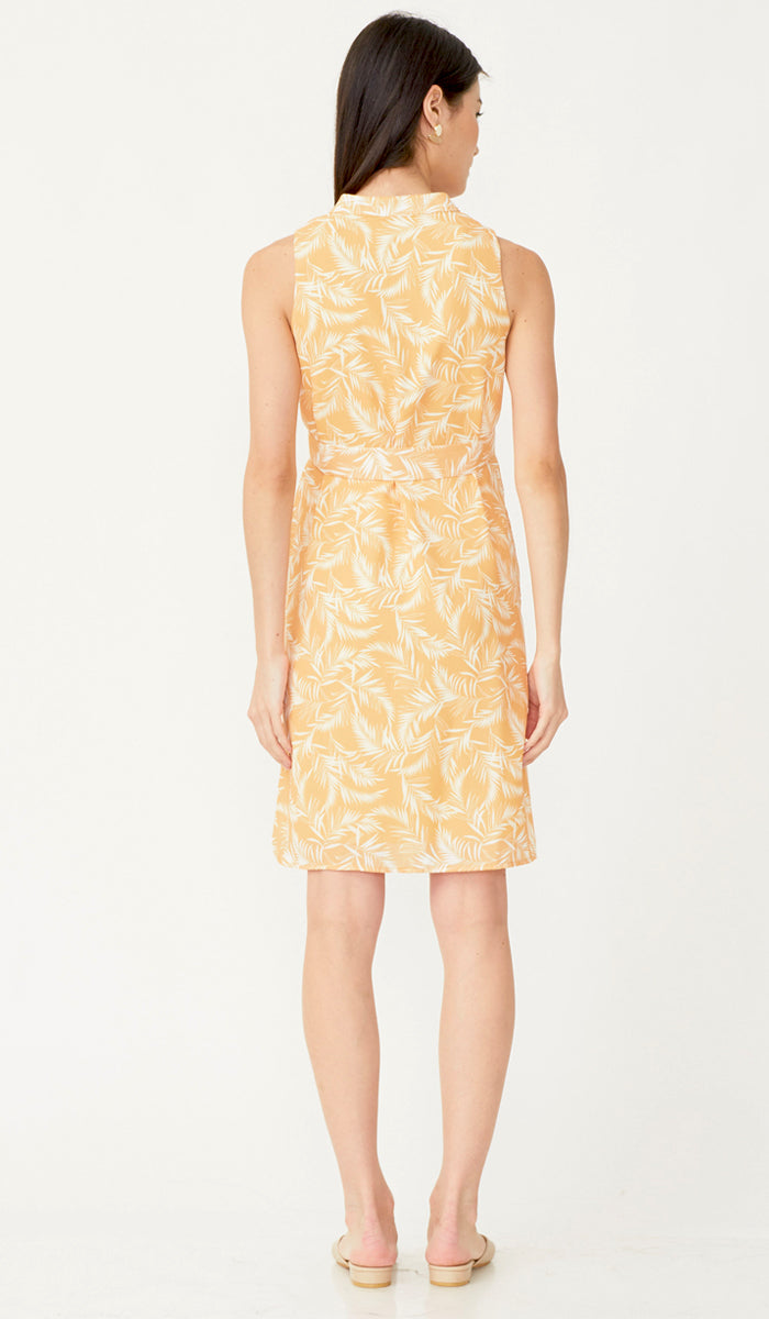 PALMER BUTTONDOWN DRESS w SASH YELLOW
