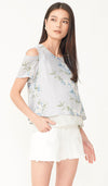 PERIWINKLE NURSING TOP