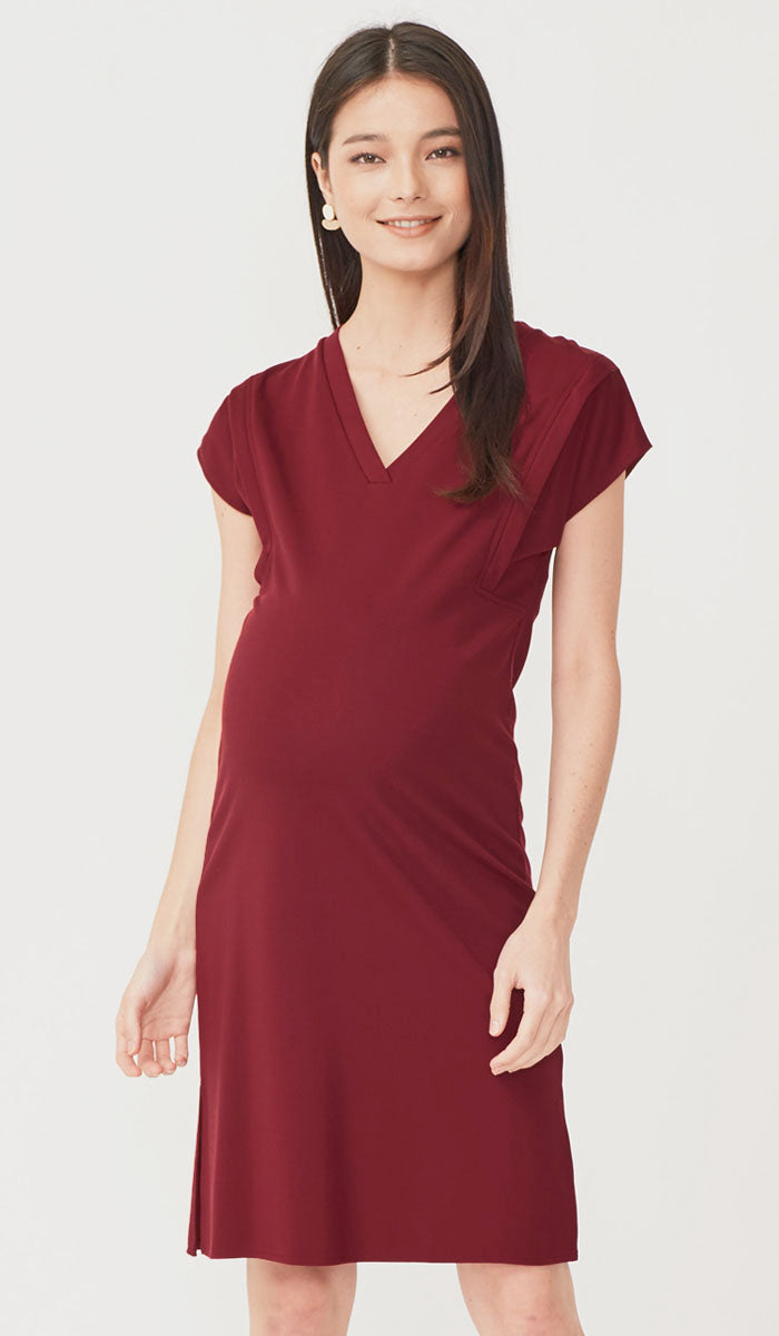 SALE - RAVEN SHIFT DRESS WINE