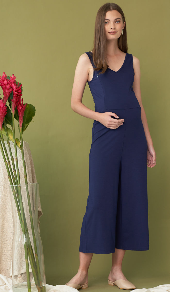 SALE - RONAN NURSING JUMPSUIT NAVY