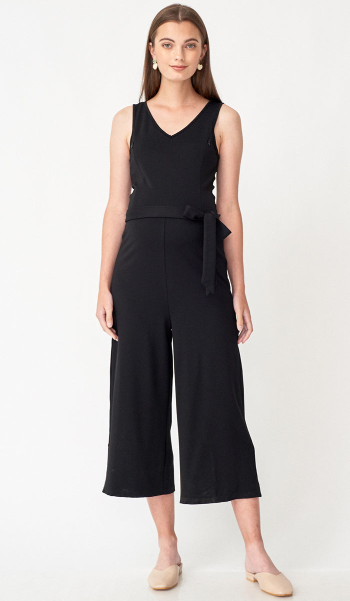 RONAN NURSING JUMPSUIT BLACK
