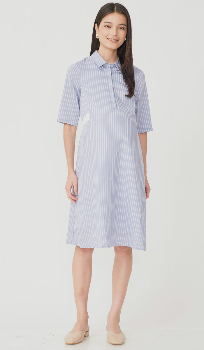 SALE - SUZY STRIPED SHIRT DRESS