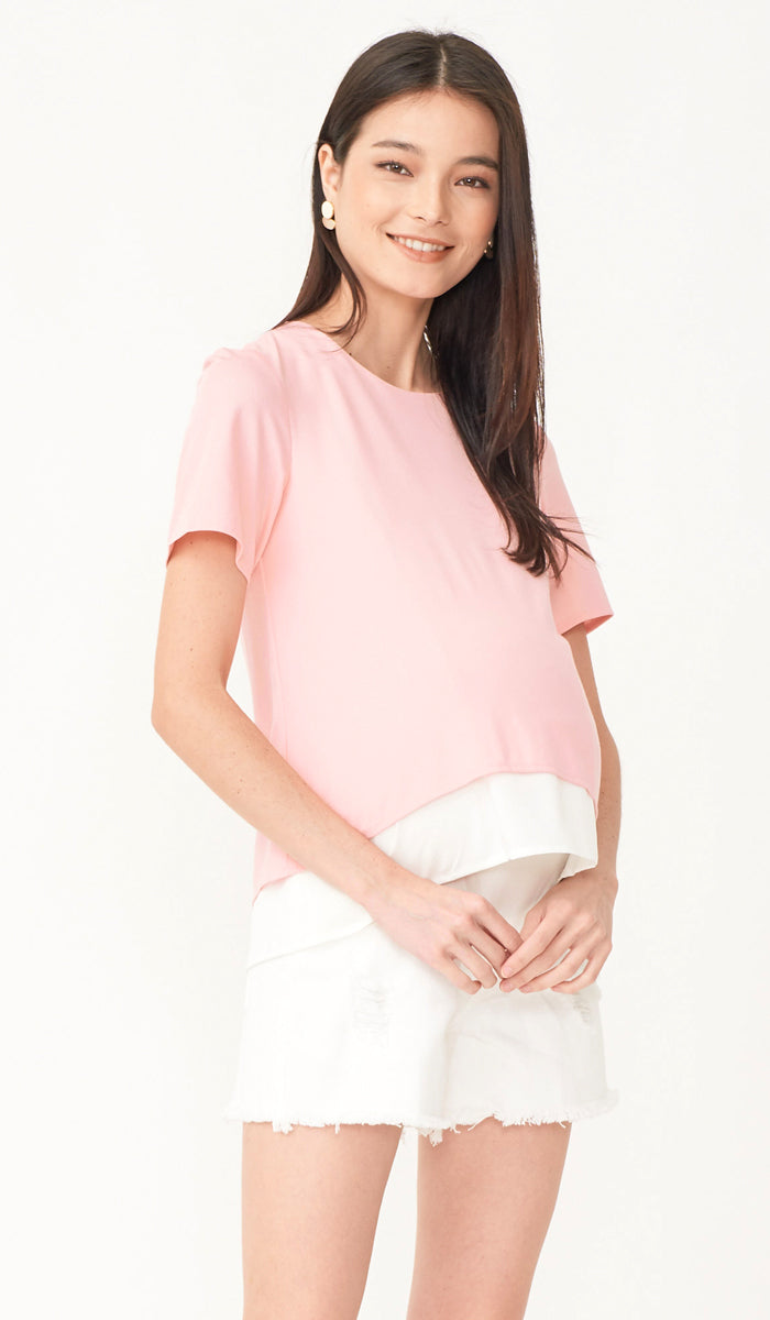 SALE - THEA NURSING TOP PINK