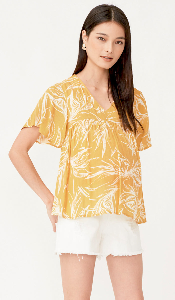 TROPICA NURSING TOP YELLOW