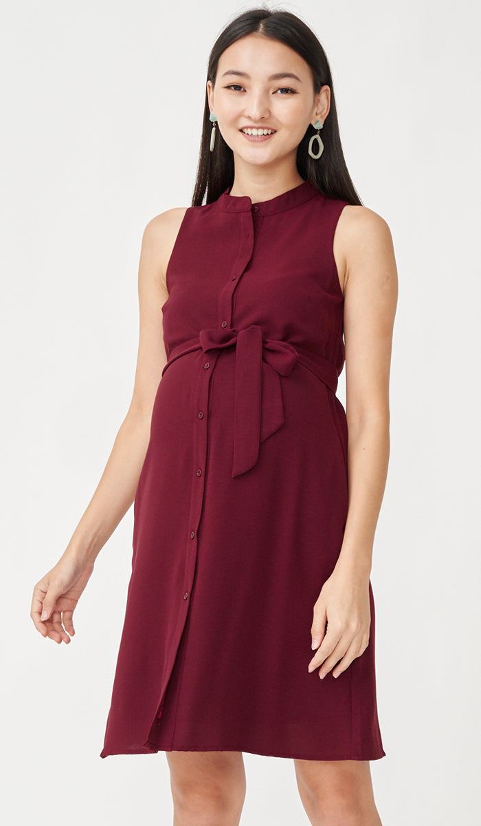 ALLIE SHIRTDRESS RED W SASH