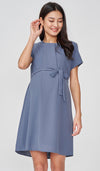 ANGIE NURSING SHIFT DRESS STEEL BLUE
