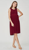 BELLA PLEATS NURSING DRESS WINE