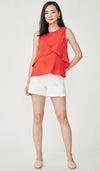 BETTI PETAL NURSING TOP RED