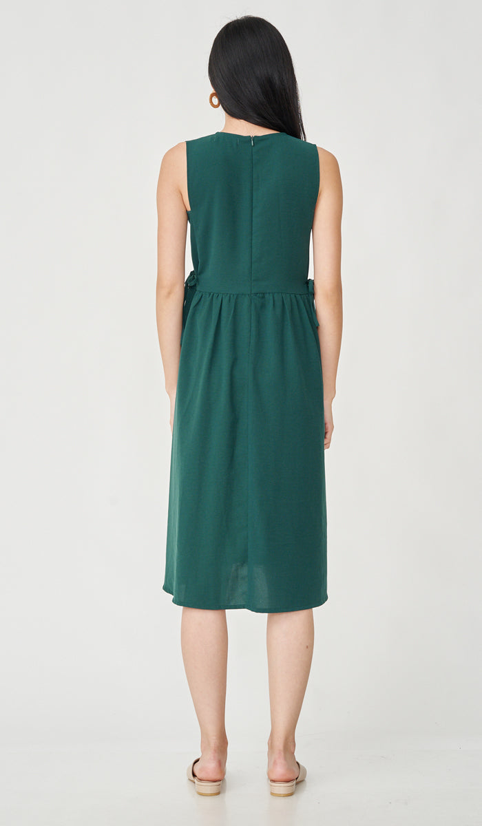 CARL BUTTONDOWN NURSING DRESS GREEN