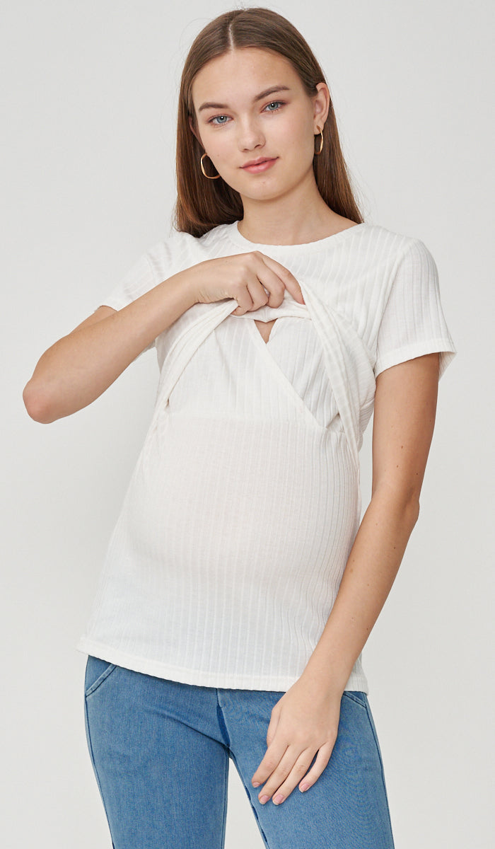 DARA BASIC NURSING TOP WHITE