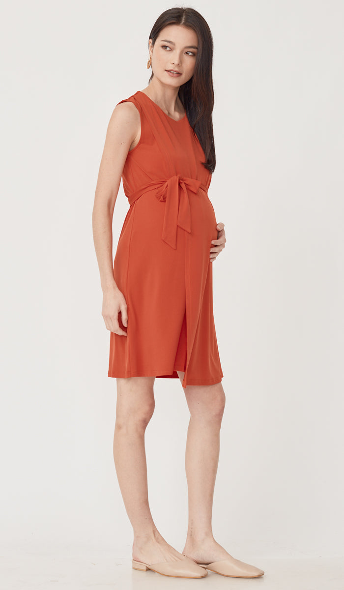 SALE - DELIA NURSING DRESS TANGERINE